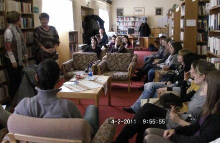 Író-olvasó találkozó a nagymegyeri könyvtárban