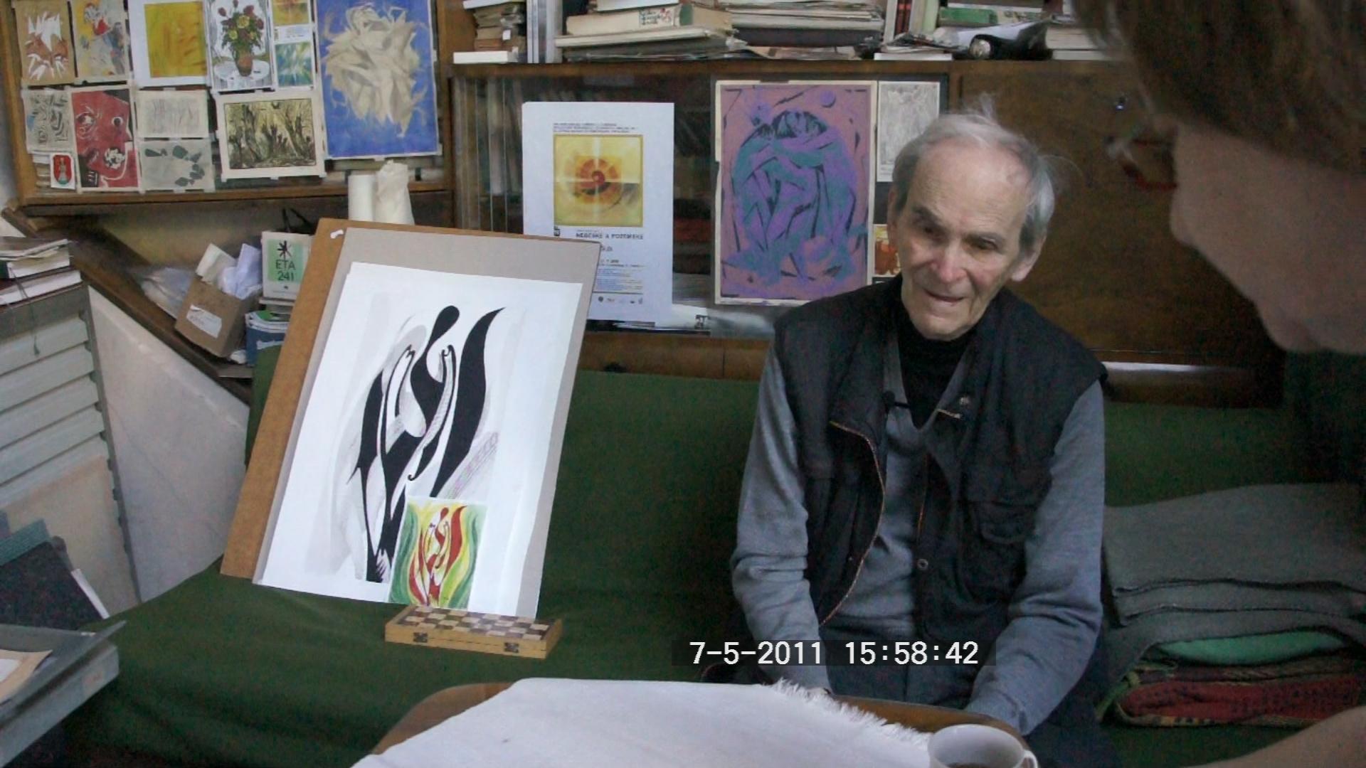 Nagy József festőművész portréja